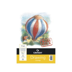 Canson Drawing Pad MAXI 110gsm Wire bound 100 sheets A4