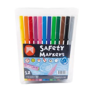 Micador Dry-Safe Markers pack of 12