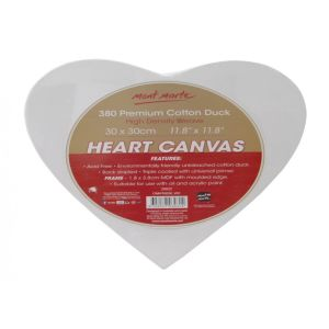 Mont Marte Canvas Heart Shaped 30 x 30cm