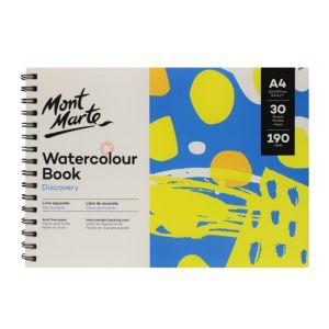 Mont Marte Discovery Watercolour Book 190gsm A4