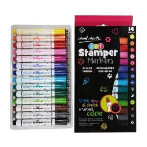 Mont Marte 2 in 1 Stamper Markers 14pce