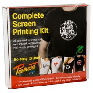 Permaset AQUA Fabric Ink SCREEN PRINTING KIT