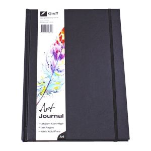 Quill A4 Art Journal Hardcover 125gsm