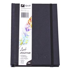 Quill A6 Art Journal Hardcover 125gsm