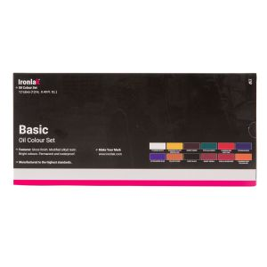 IRONLAK BASIC OIL COLOUR 12 PIECE SET