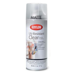 Krylon UV Resistant Clear Matte Spray No.1309