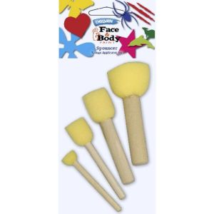 DERIVAN FACE PAINT SPOUNCER SET 4 piece