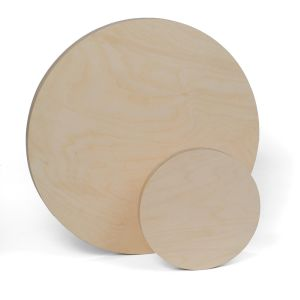 Round Wood Painting Panels