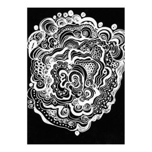 Scratch Art Paper 21x27cm Black over White - per sheet