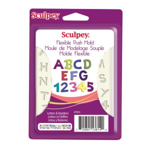 SCULPEY PUSH MOLD - LETTERS & NUMBERS