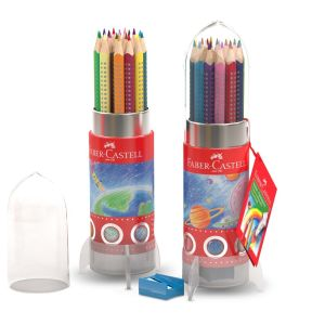 Faber-Castell Colour Grip Rocket Tin of 20