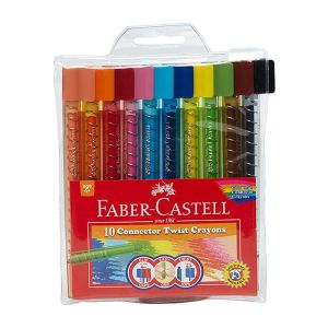 Faber-Castell Connector Twist Crayons 12 assorted