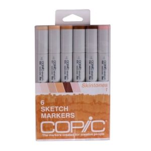 Copic Sketch Set of 6 Skin Tone