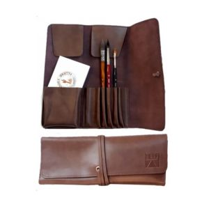 NEEF Leather Brush Wallet - Brown