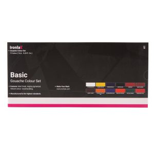 IRONLAK BASIC GOUACHE SET 12 PIECE SET