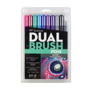 Tombow Dual Brush Pen Set of 10 Galaxy