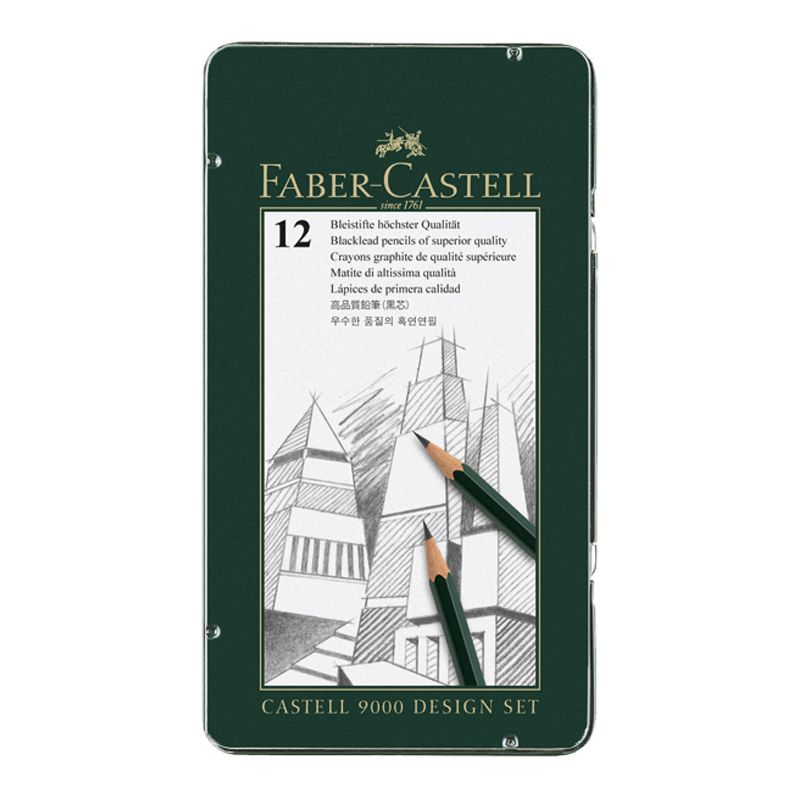Faber-Castell 9000 Design Set of 12 - 5B to 5H