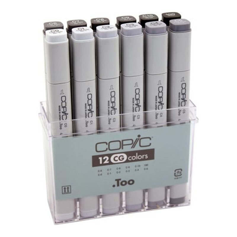 Copic Marker Set 12 Cool Grey