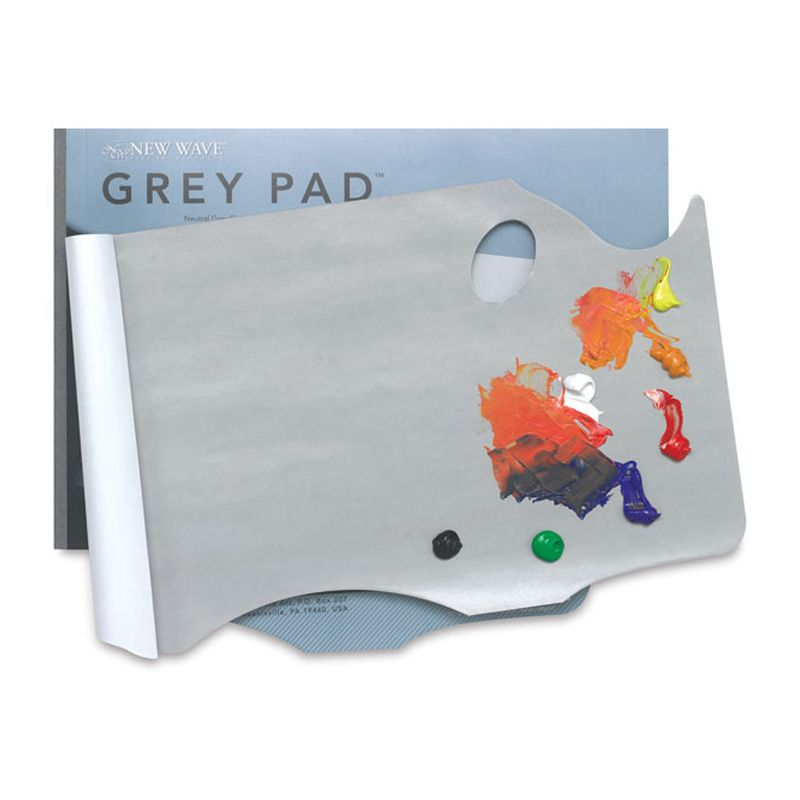 Disposable Palette Pad GREY 28x40cm Rectangular
