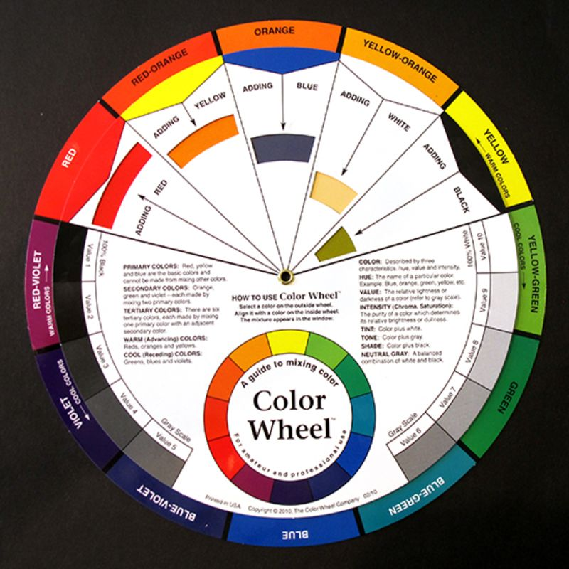 ARTIST COLOUR WHEEL 23.5cm