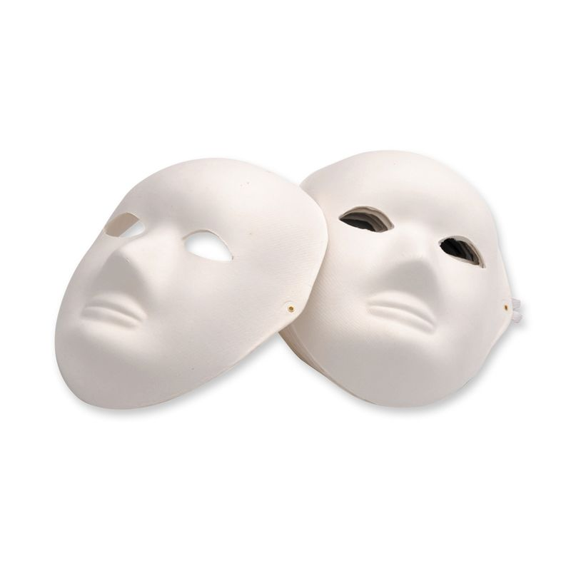 EC PAPIER MACHE FULL FACE MASK - each