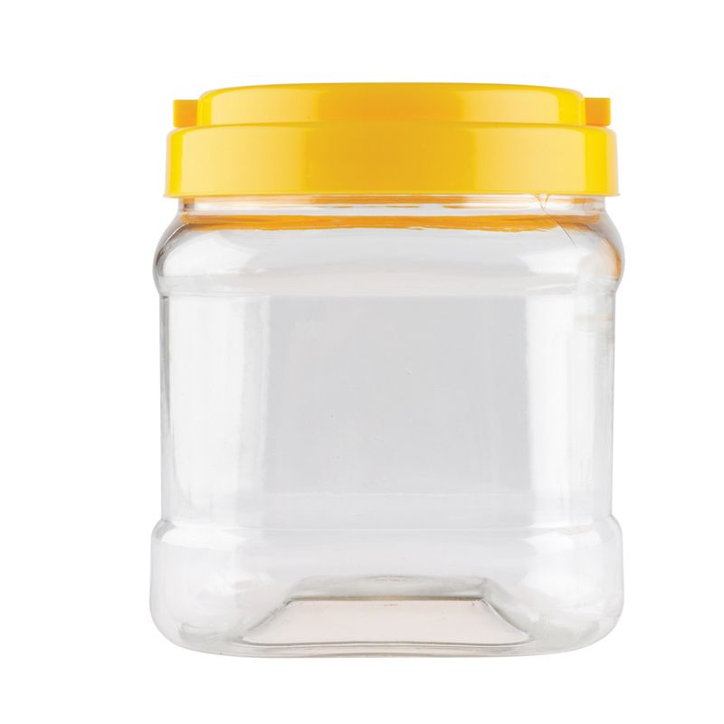 Educational Colours CLEAR JAR with YELLOW LID 700ml - each