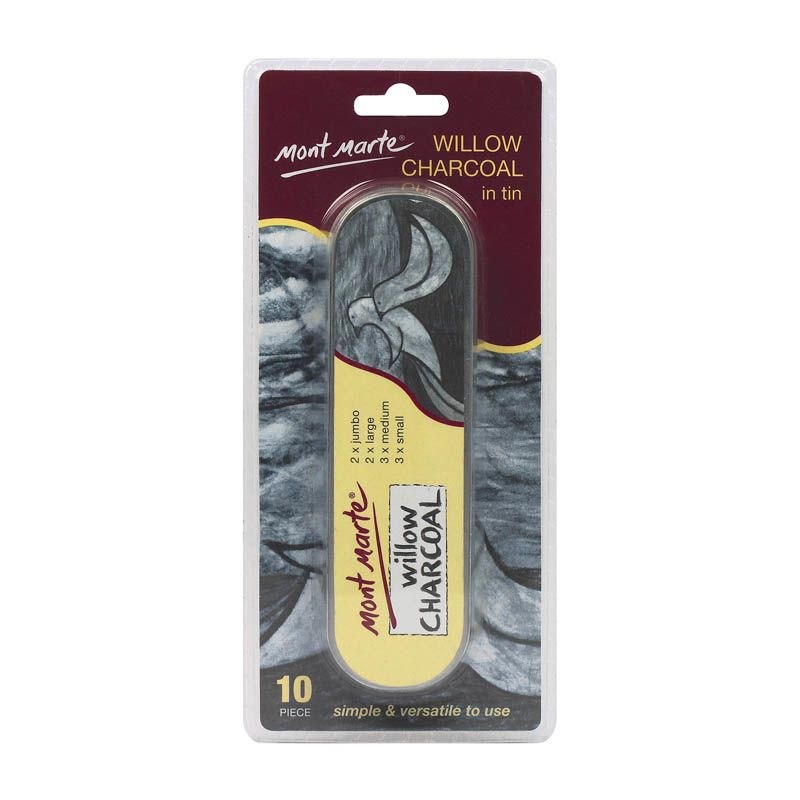 Mont Marte Willow Charcoal in Tin 10pce