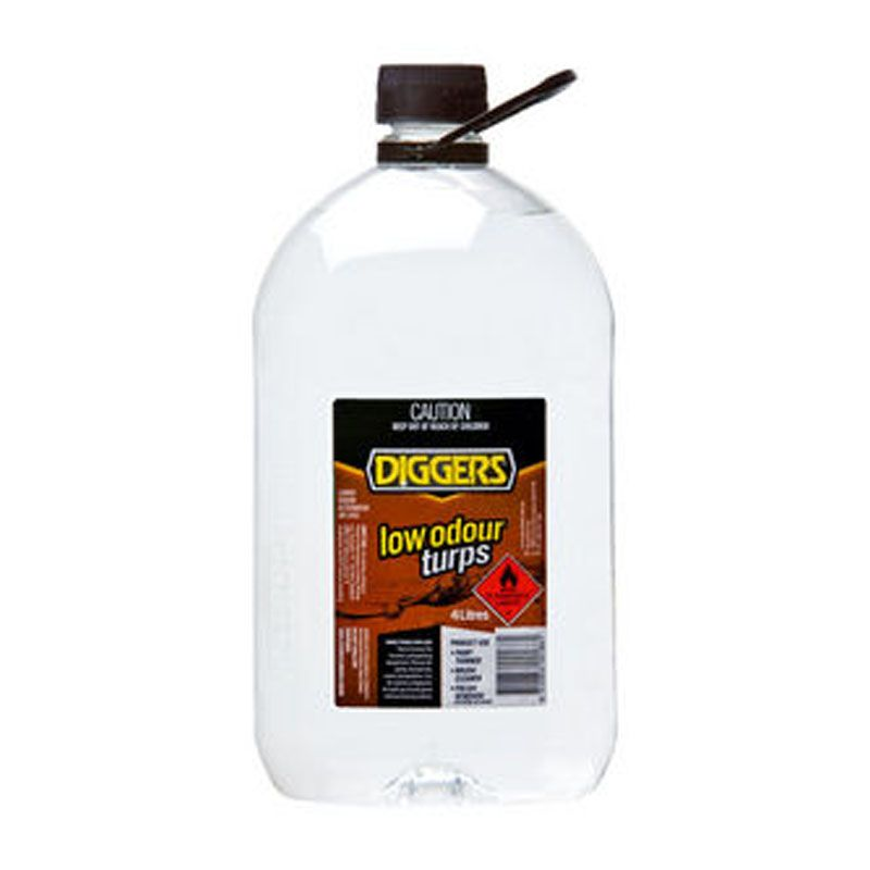 Diggers Low Odour Mineral Turps 4 litres