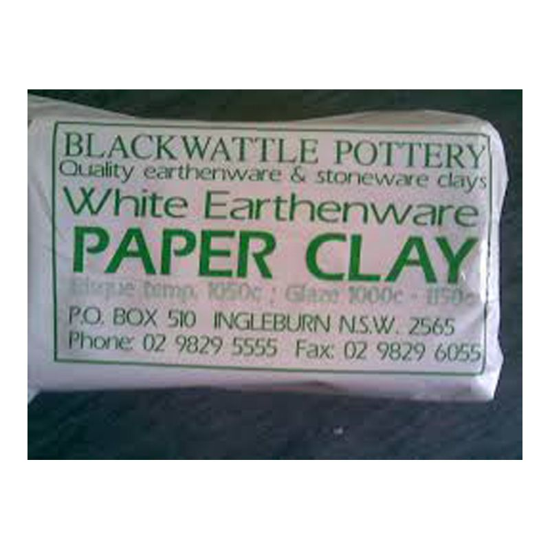 Black Wattle Paper Clay White Earthenware 10kg