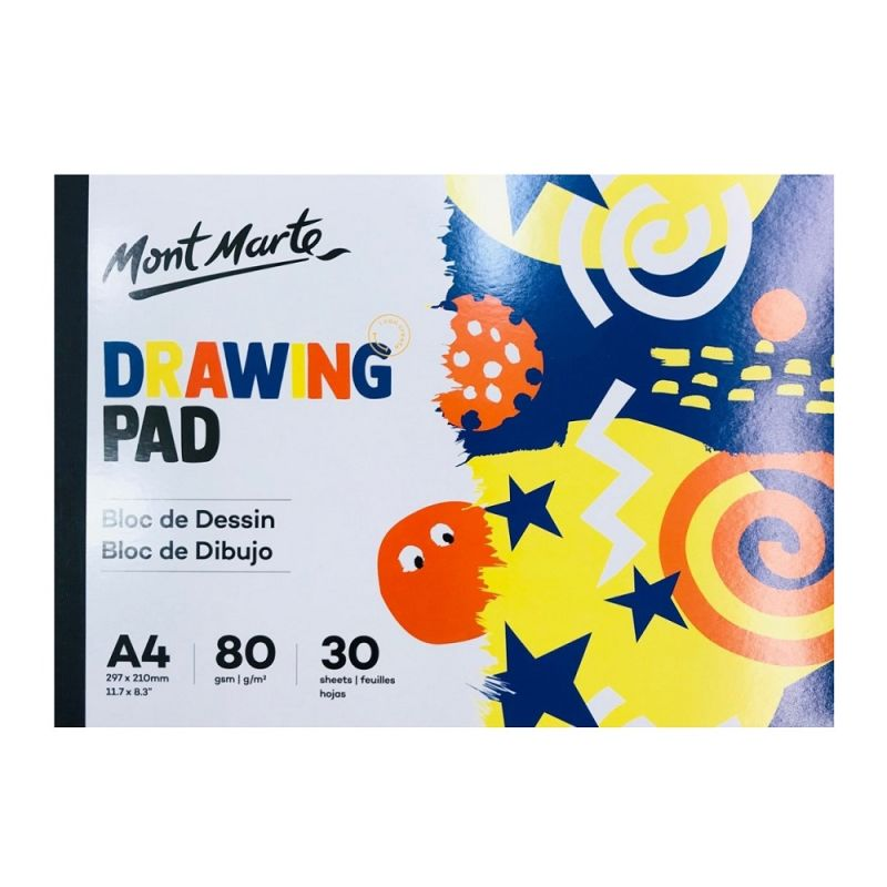 Mont Marte Kids Drawing Pad A4 30 sheets