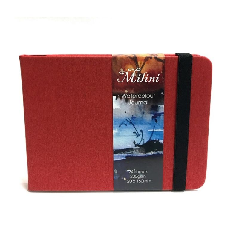 Milini Watercolour Journal 200gsm 12x16cm - Red