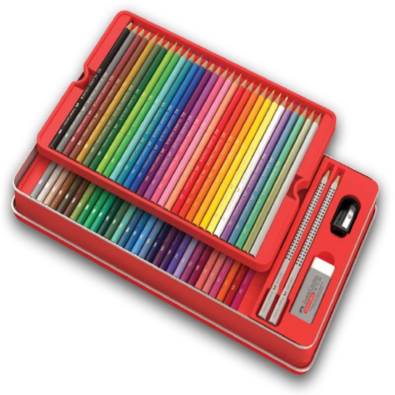 Faber-Castell Classic Pencil tin of 60 + Colour Wheel