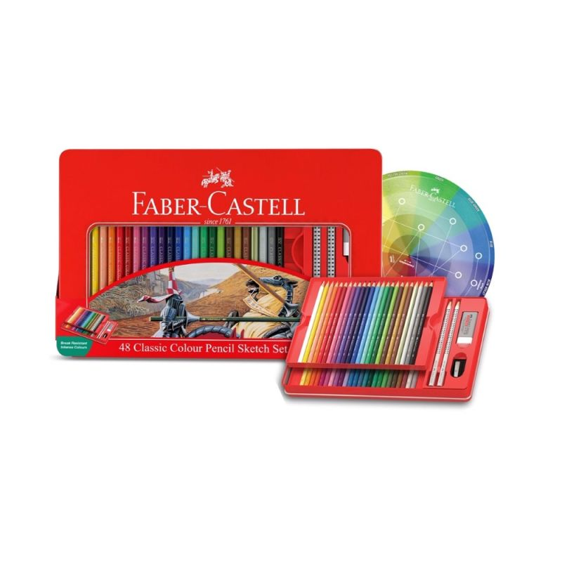 Faber-Castell Classic Pencil tin of 48 + Colour Wheel