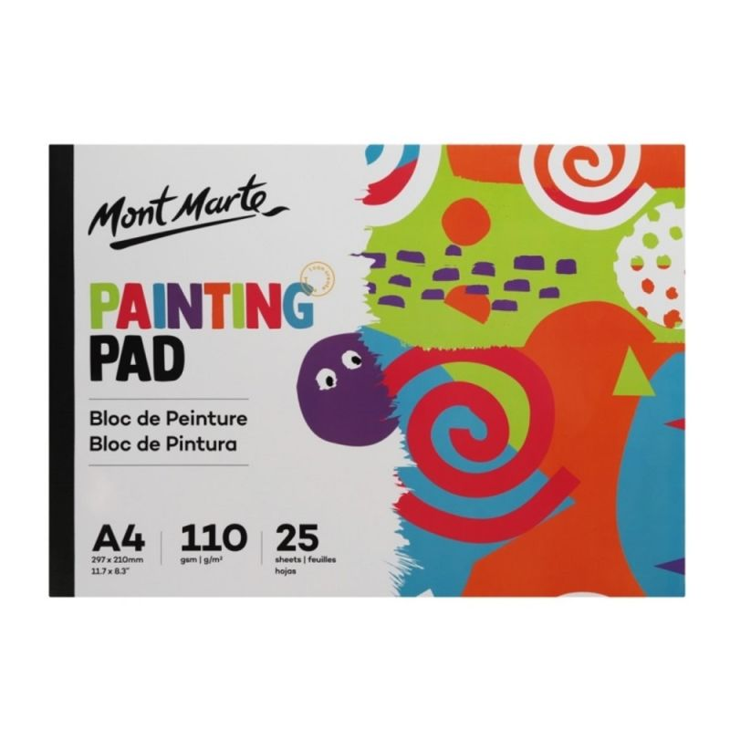 Mont Marte Kids Painting Pad A4 25 sheets