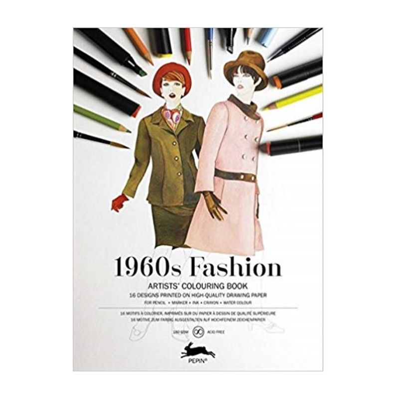 Pepin Artist Colouring Book - 1960s Fashion