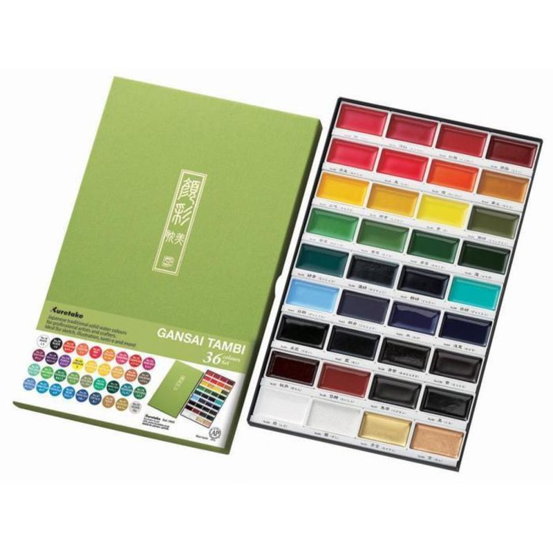Kuretake Gansai Tambi Watercolour Set 36 Colours