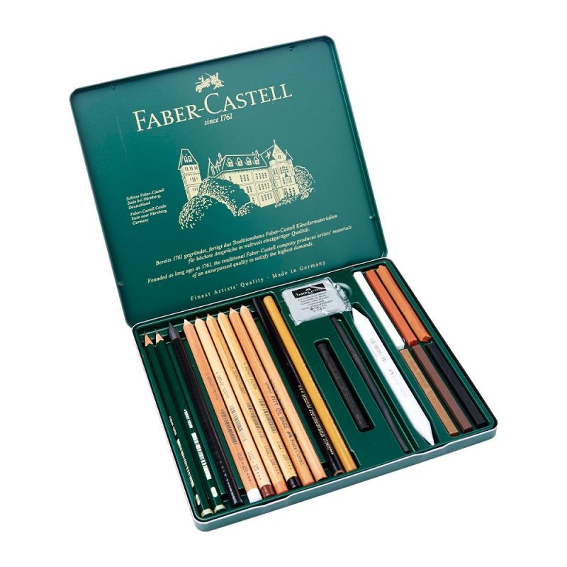 Faber-Castell Pitt Monochrome Set of 21