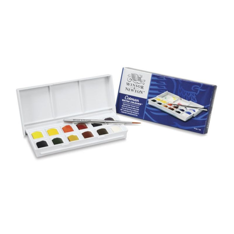 Winsor and Newton Cotman Watercolour Sketchers Pocket Box of 12