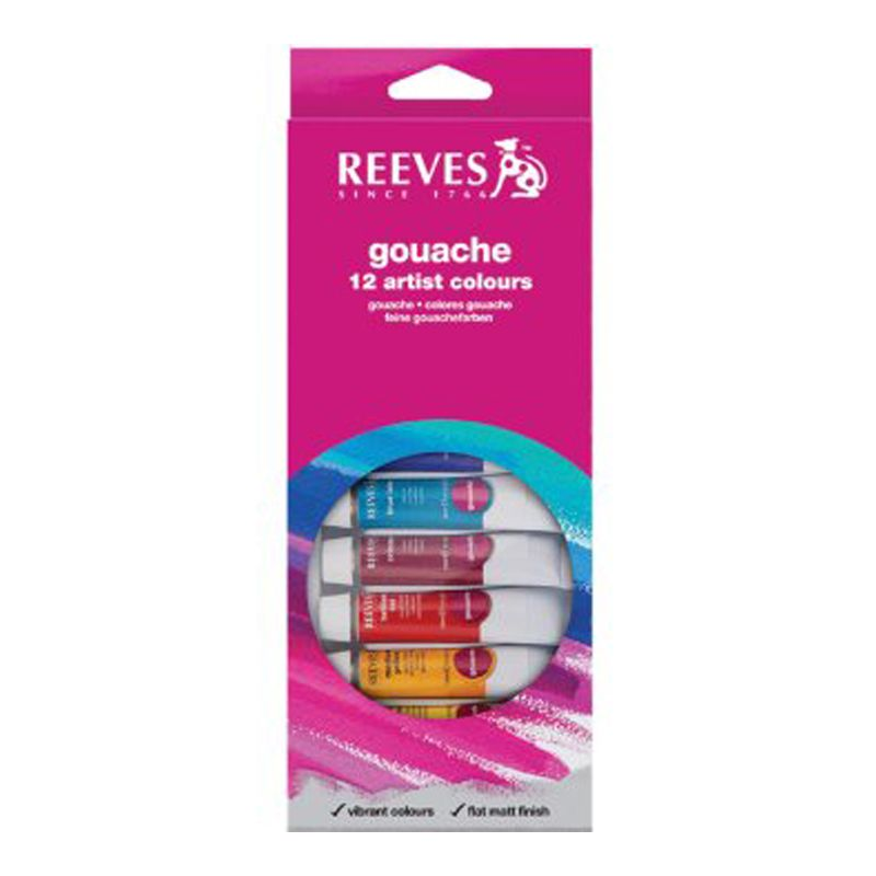 Reeves Poster Gouache 12 x 10ml