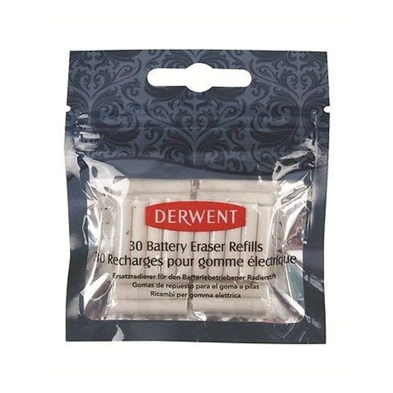 Derwent Replacement Erasers for battery eraser Pkt 30