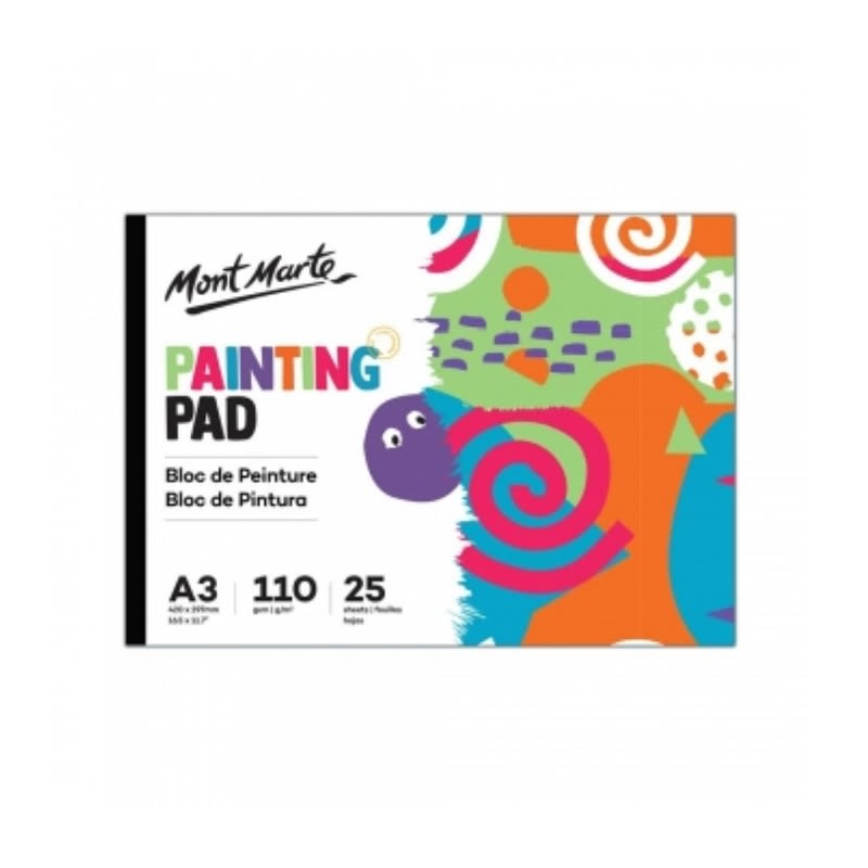 Mont Marte Kids Painting Pad A3 25 sheets