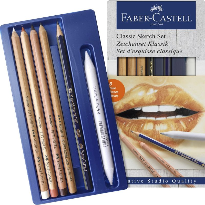 Faber-Castell Classic Sketch Set with Eraser