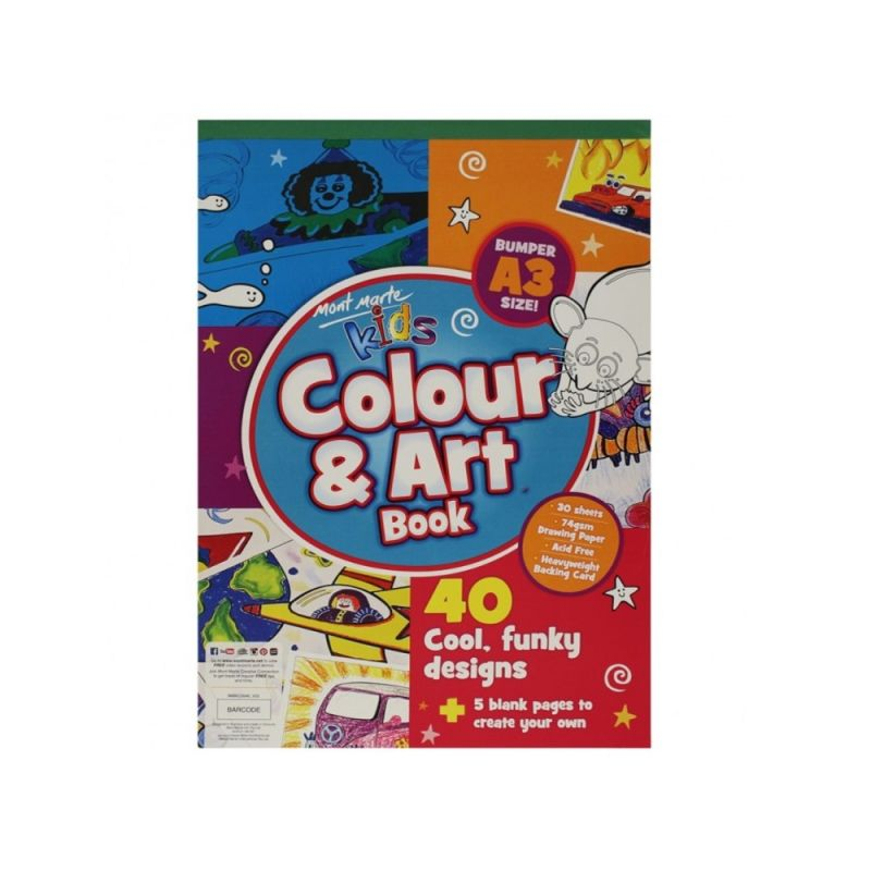 Mont Marte Creative Kids Colour and Art Book 30pge A3_