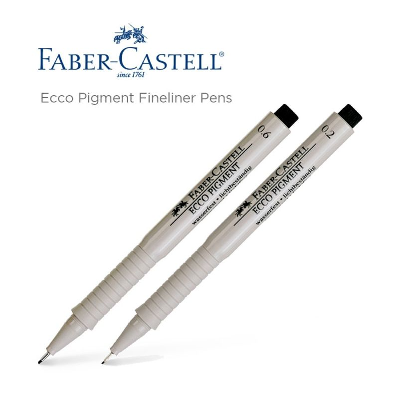Faber-Castell Ecco Drawing Pens 0.2 0.4 0.6 0.8