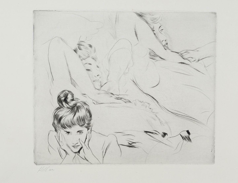 ᐅ étude De Madame Helleu S étirant Et Le Visage Encadré By Paul César Helleu Print Art Shortlist
