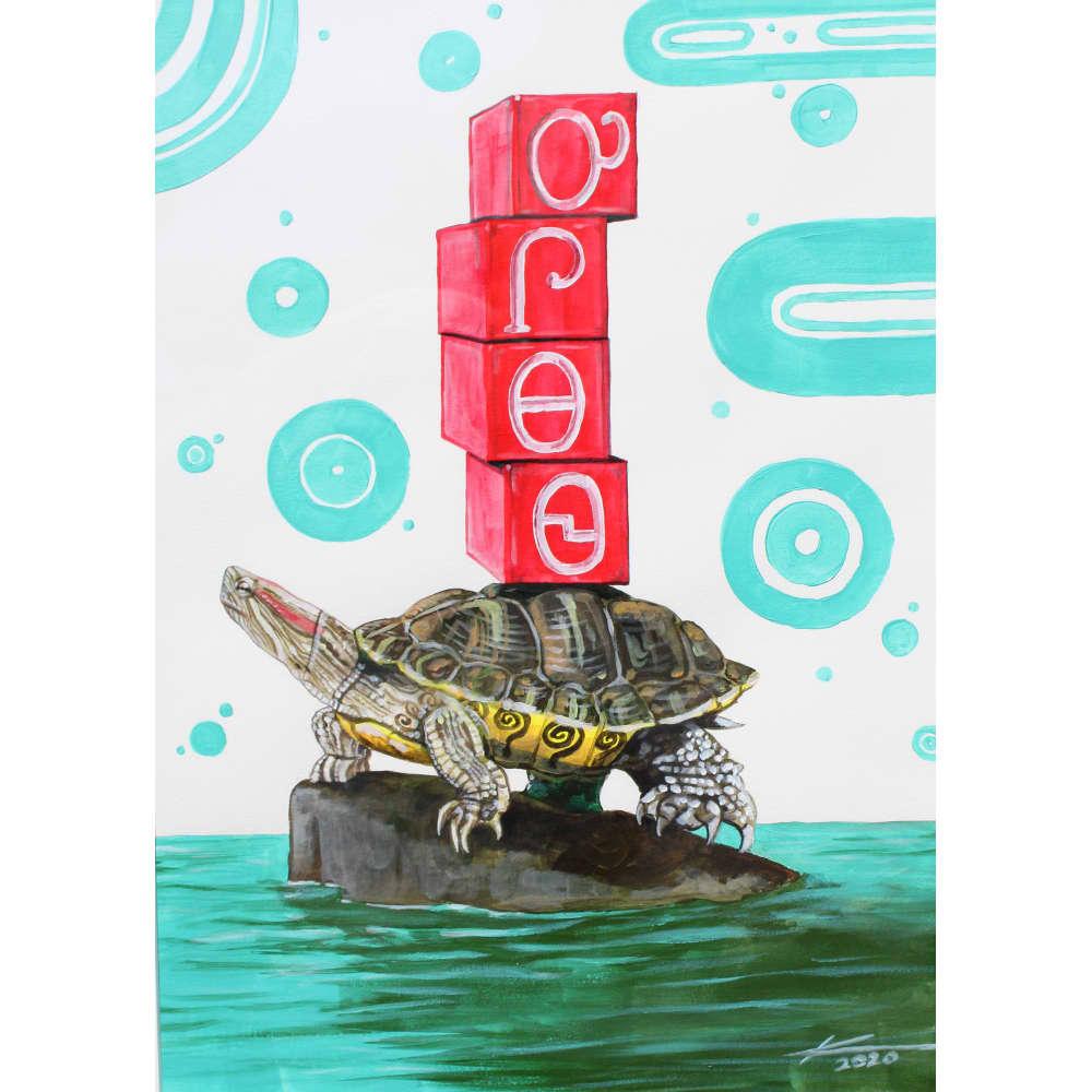 ᎤᎵᎾᏫ u-li-na-wi Turtle