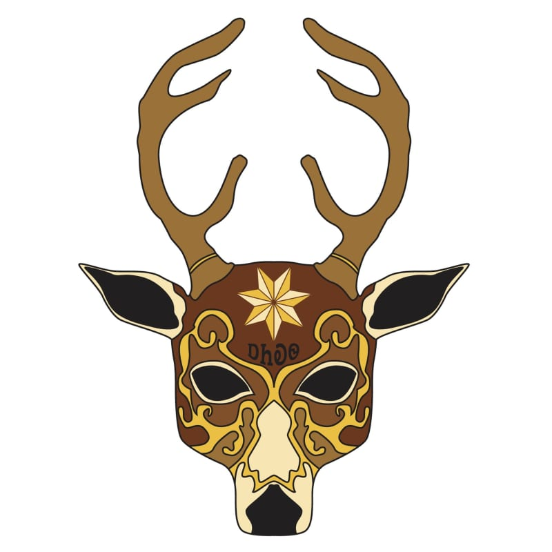 ᎠᏂᎧᏫ (Deer Clan Mask)