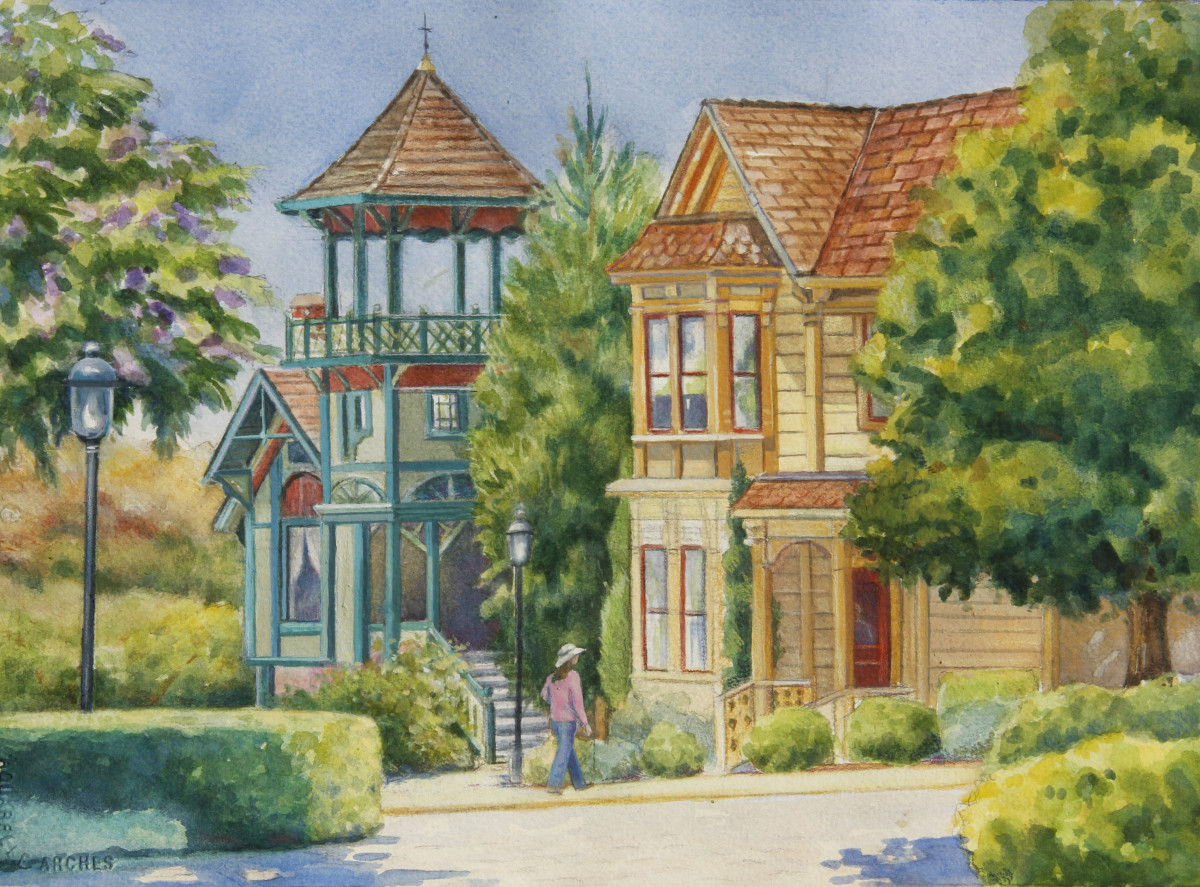 Heritage Park San Diego- (Plein air demo)