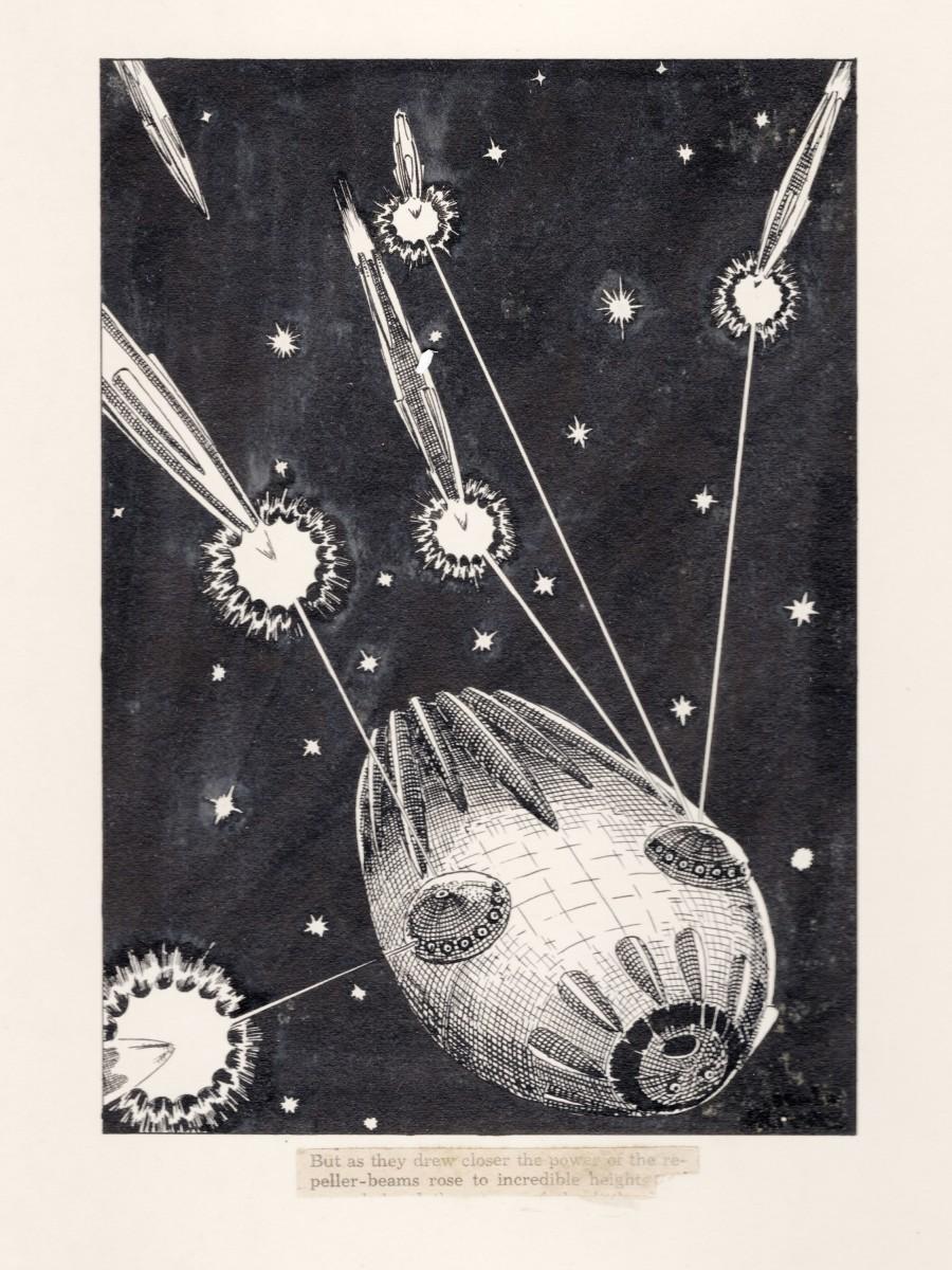 The Last Spaceship - Book Illustration