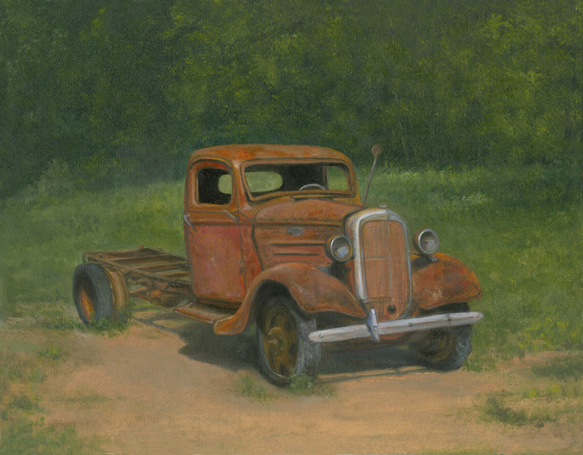 Old Rusty Red Chevy Truck by Tarryl Gabel | Artwork Archive